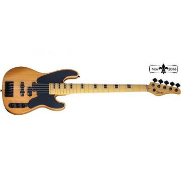 Custom Schecter Model-T Session-5 Electric Bass Aged Natural Satin