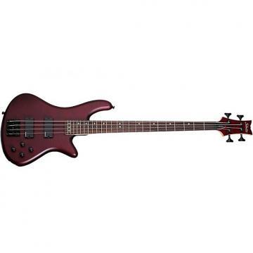 Custom Schecter Stiletto Custom-4 Electric Bass Vampyre Red Satin