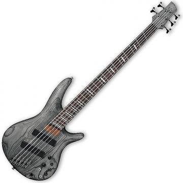 Custom Ibanez SRFF805 BKS SR Series 5-String Multi-Scale Electric Bass Guitar in Black Stained Finish