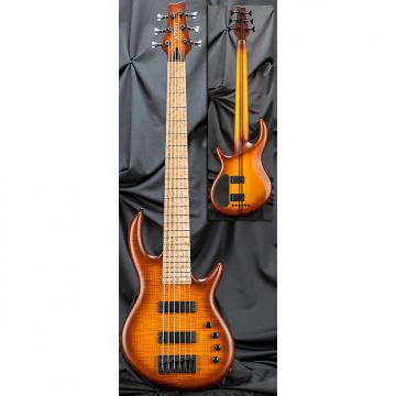 Custom Kiesel Carvin IC6 Icon 6 String Electric Bass Guitar Deep Honeyburst Flame w/ Soft Case