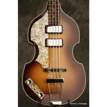"Custom Hofner 500/1 V61 ""Cavern"" early reissue Beatle Bass rare LEFT-HANDED 1990s Sunburst"