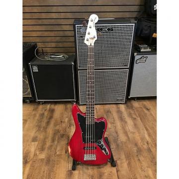 Custom Squier Vintage Modified Jaguar Bass V Crimson Red