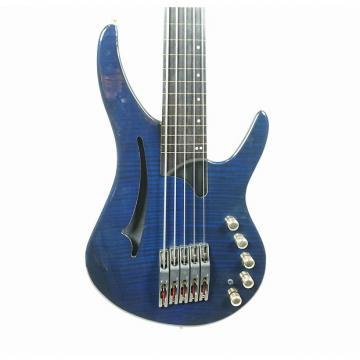 Custom Used  Classic A Lightwave V Bass Guitar Blue
