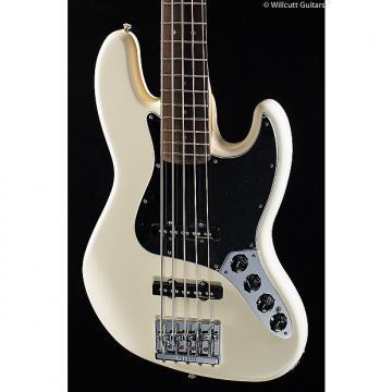 Custom Fender Deluxe Active Jazz Bass V Olympic White Rosewood (680)