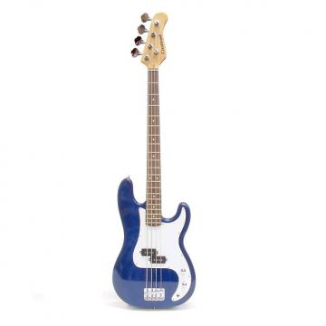 Custom Crestwood PB970TBL 4-String Bass Guitar Transparent Blue
