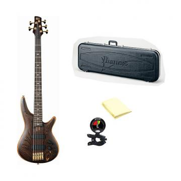Custom Ibanez Prestige SR5005 Ele-Bass Guitar in Natural Finish (Hardshell case included) With Accessories