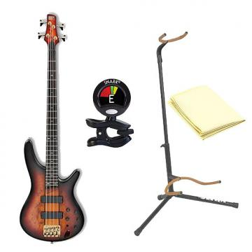 Custom Ibanez SR800 4-String Electric Bass Guitar in Aged Whiskey Burst Finish with Accessories