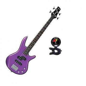 Custom Ibanez GSRM20MPL GSR Series Electric Bass Guitar in Metallic Purple Finish With Snark SN5X Tuner
