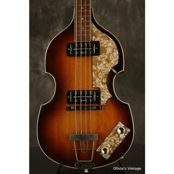 Custom Hofner 500/1 Beatle Bass 1967 Sunburst