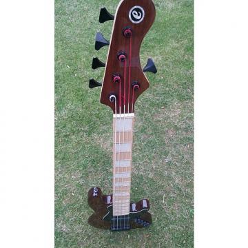 Custom Elrick Expat Elrick Expat Handmade New Jazz Strandard 5 String. Walnut Brown Finish, Maple Fingerboard
