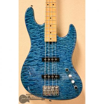 Custom USED Mike Lull M4 2008 NAMM Bass in Transparent Blue