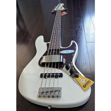 "Custom Bacchus Global Series - WL-535 - 35"" Scale 5 String Bass - White Finish - NEW - Authorized Dealer"