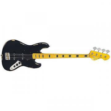 Custom Vintage Guitars US ICON VJ74MRBK Black JB4 bass distressed
