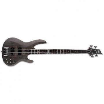 Custom ESP/LTD B-204 Spalted Maple See-thru Black Satin(LB204SMSTBLKS)Bass Guitar - LB204SMSTBLKS