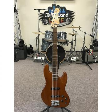 Custom Fender Deluxe Active Jazz Bass V Okoume 2014 Natural