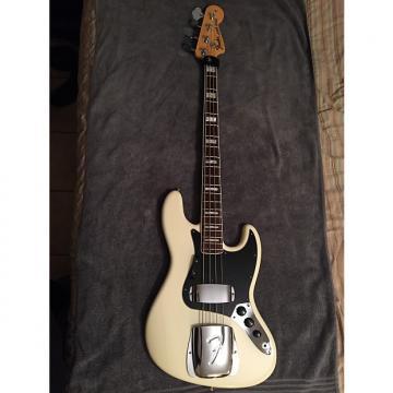 Custom Fender American Bass Vintage '74 Jazz Bass Reissue 1974 Olmpic White RW FB