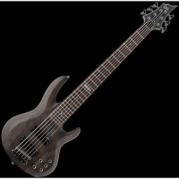 Custom ESP LTD B-206SM Electric Bass in See Thru Black Satin B-Stock