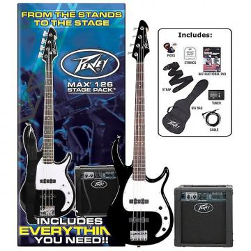 Custom Peavey MAX Bass Guitar Pack (Black)
