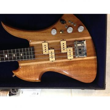 "Custom BC RICH Neck Through Mockingbird Bass ""LongHorn"" 80's Koa Maple"