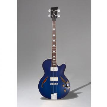 Custom Italia Torino Bass Trans Blue Semi hollow set neck Short scale