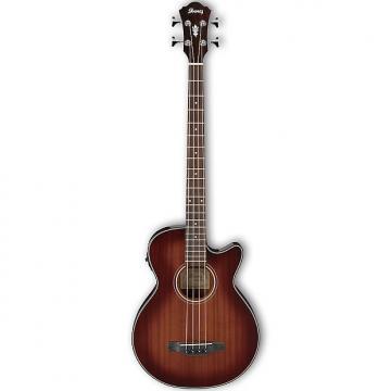 Custom Ibanez AEGB14EMHS Acoustic Bass - Mahogany Sunburst