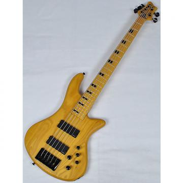 Custom Schecter Stiletto-5 Session Electric Bass in Aged Natural Satin Finish