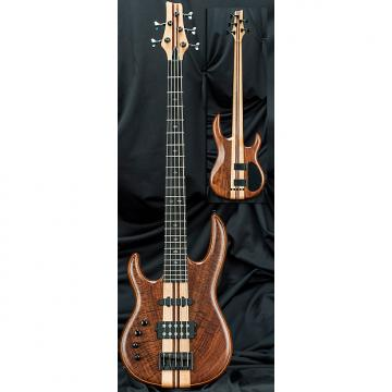 Custom Kiesel Carvin LB75 Lefty Left Handed 5 String Active/Passive Electric Bass Guitar Claro Walnut