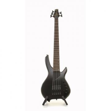 Custom Willcox Guitars Saber VL5 5 String Lightwave Electric Bass Guitar - Black