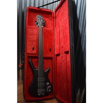 Custom Warwick Rockbass Corvette $$ 5 String Fretless Bass Nirvana Black & Case #2815