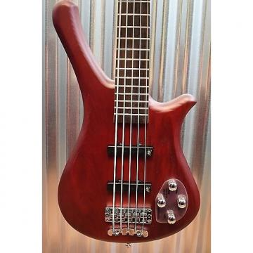 Custom Warwick Rockbass Fortress 5 String Bass Red Oil & Gig Bag #6115