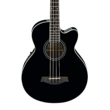 Custom Ibanez AEB8E-BK Electro Acoustic Bass, Black