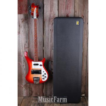 Custom Rickenbacker 4003S FG Fire Glo 4 String Electric Bass Guitar w Hardshell Case