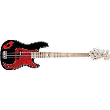 Custom Squier Pete Wentz Precision Bass, Maple Fingerboard,  Black 0301074506