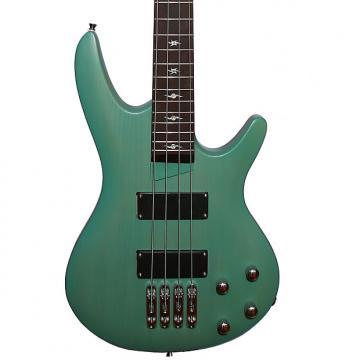 Custom Fishbone PB4 ELDC 4 String Bass Green Mate Transparent Awesome bass Guitar