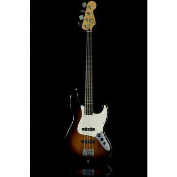 Custom Fender Standard Jazz Electric Bass Guitar Fretless, Rosewood Fingerboard, Brown Sunburst