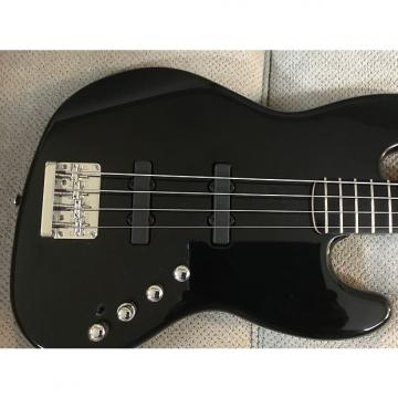 Custom Squier Deluxe Jazz Bass IV Active 4 String with Ebonol Fingerboard - Black UPGRADES