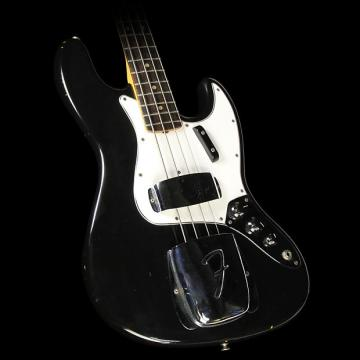 Custom Used 1965 Fender Jazz Bass Electric Bass Guitar Refinished Black
