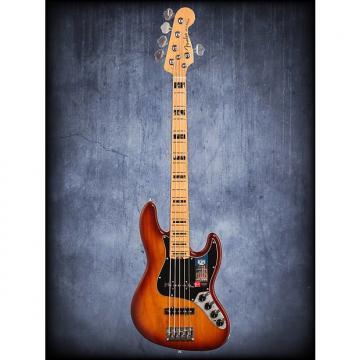 Custom Fender Amer Elite Jazz Bass V Ash Tobacco Burst WC