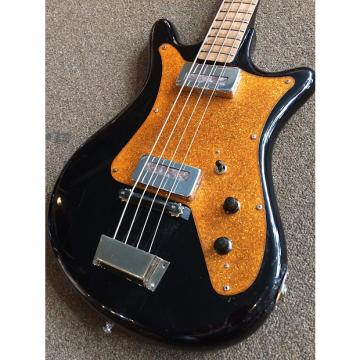 Custom Soviet-USSR Made Electric Bass Two Pick-up 1970 Black & Gold Sparkle