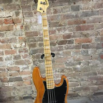 Custom Fender Squier Jazz Bass Natural Wood