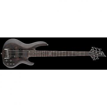 Custom ESP LTD B-205SM Electric Bass in See Thru Black Satin