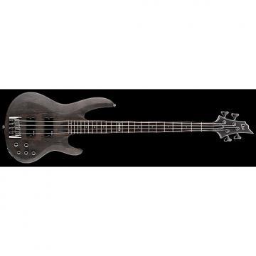 Custom ESP LTD B-204SM Electric Bass in See Thru Black Satin