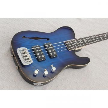 Custom G&L USA ASAT Bass Semi Hollow Blue Burst