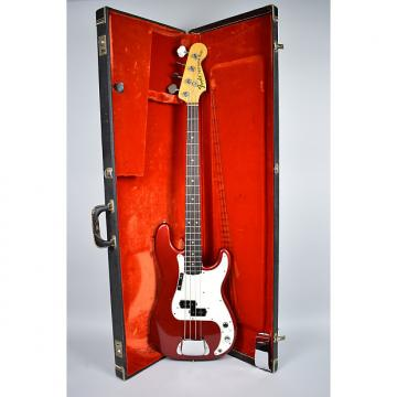 Custom Fender Vintage Precision Bass Guitar Custom Color Candy Apple Red w/OHSC 1974 Red