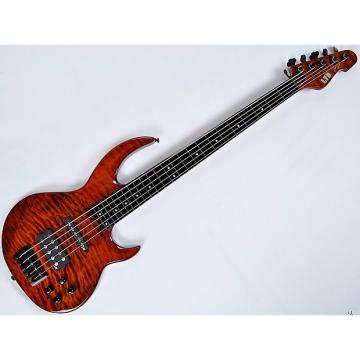 Custom ESP LTD BB-1005FL QM Fretless Bunny Brunel Electric Bass in Burnt