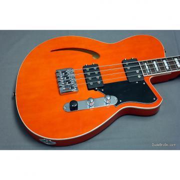 Custom Reverend - Dub King Short Scale Bass in Rock Orange, Semi-Hollow & Deep Tone!
