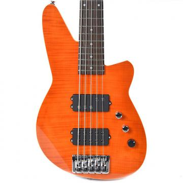Custom Reverend Mercalli 5 Bass Trans Orange Flame Maple
