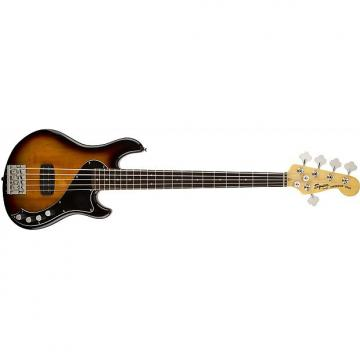 Custom Squier Deluxe Dimension Bass V Five String 3-Color Sunburst