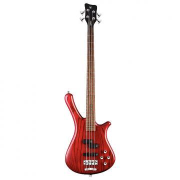Custom Warwick RockBass Fortress 4-String Bass, Burgundy Red Oil