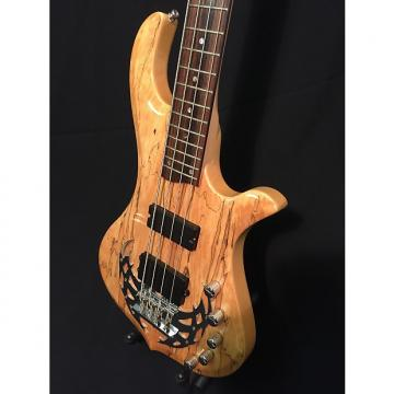 Custom Traben Array Limited 4-string bass with HISCOX CASE and STRAP. Spalt Maple + active pre-amp